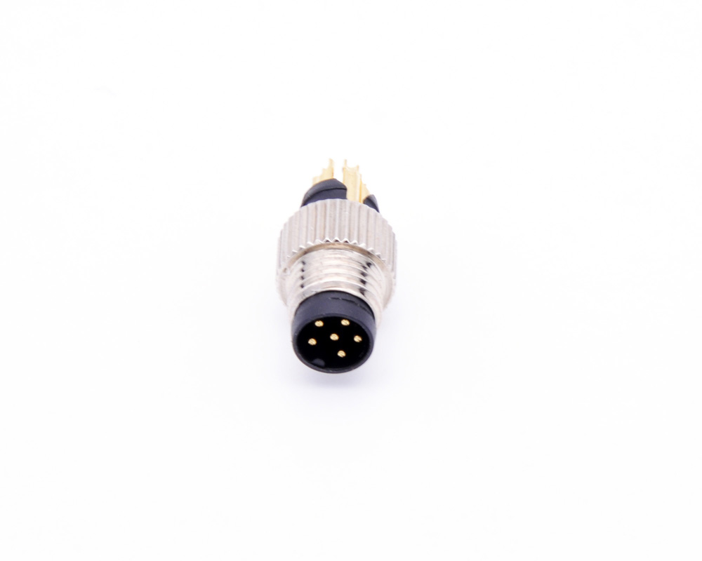 M8 Molded Cable Connector, Solder Type, Straight Male Plug