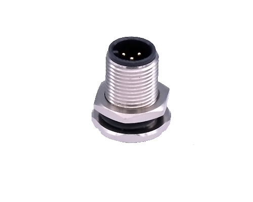 M12 Panel Mount Connector, A Coding, 4 5 6 8 12 Pin Male Plug