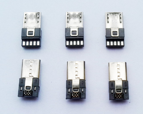 Micro USB Connector Manufacturer, 5 pin pad back